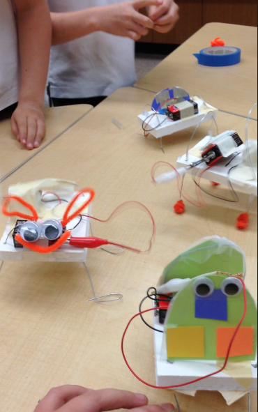 Motorized Wiggle-Bots teaches circuitry and kinetic motion